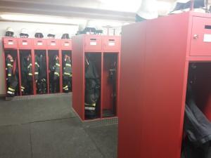 Umkleide der Feuerwehrangehörigen