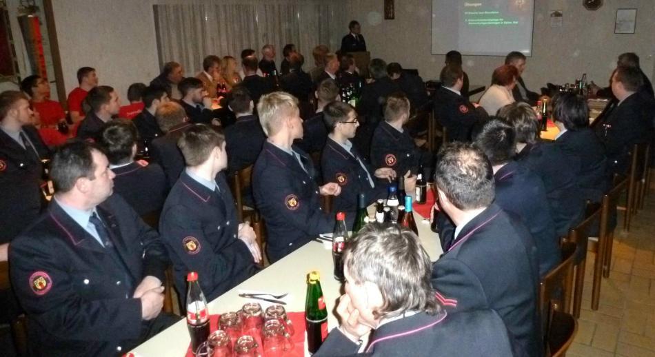 Kommandant Rainer Stecker leitete die Versammlung